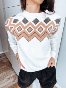 SWETER CREAM-GRAY UNI